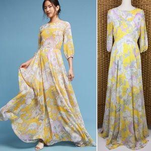 NWT Yumi Kim Woodstock Yellow Maxi Dress Sz M